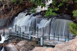 Hogenakkal Falls in TamilNadu Bathing