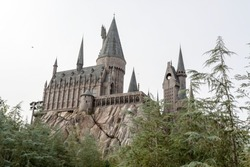 Hogwarts Castle, home to Harry Potter and the Forbidden Journey attraction Orlando USA