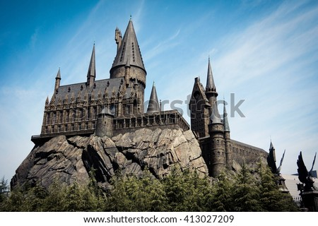 Hogwarts School of Witchcraft and Wizardry Foto stock ©