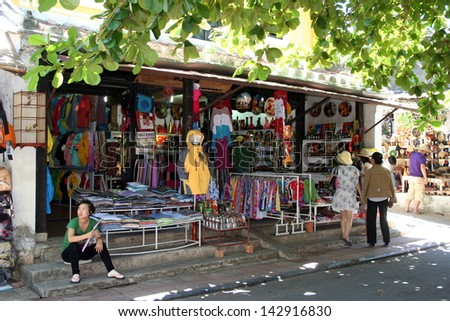 HOI AN, VIETNAM - JUNE 27:street shopping and trade centre of the world heritage and ancient town on June 27, 2012 in Hoi An, Vietnam.