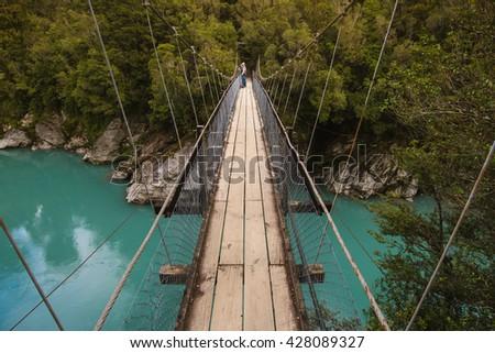 Hokitika gorge bridge #428089327
