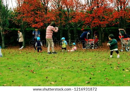 Hokkaido, Sapporo, early childhood education landscape in the autumn garden #1216931872