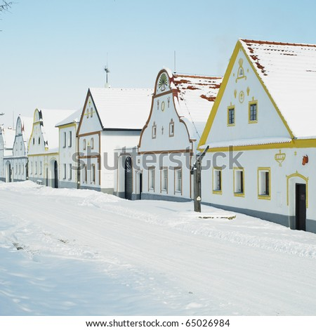 Holasovice in winter, Czech Republic