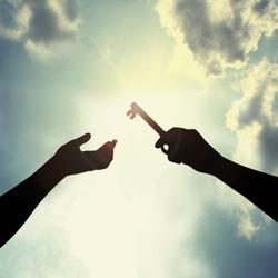 Hold key in sky