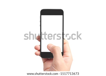 Hold mobile phones, smartphone in hand devices and touch screen technology #1517713673