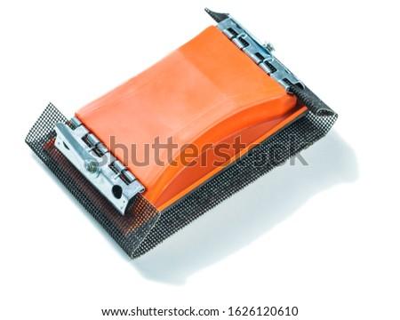 holder for abrasive grid isolated