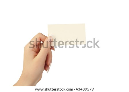 holding a card in hand