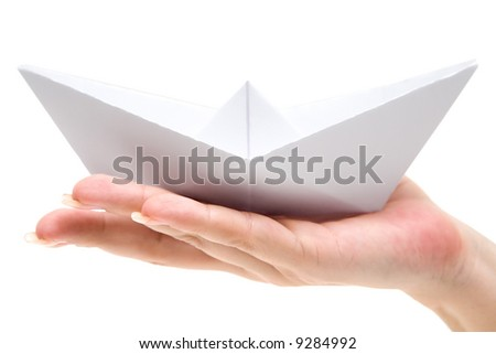 Holding a Paper Ship