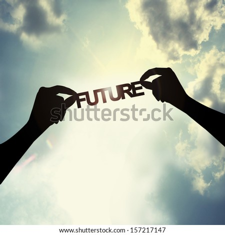 holding future in sky