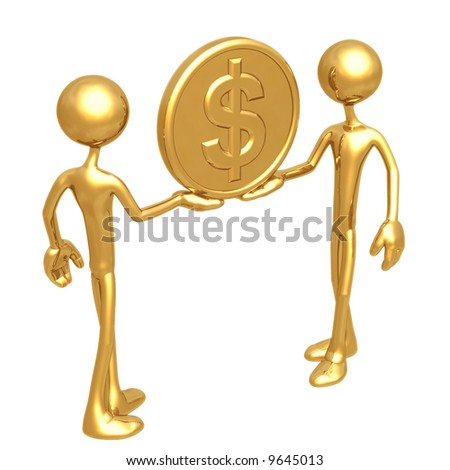 Holding Gold Dollar Coin