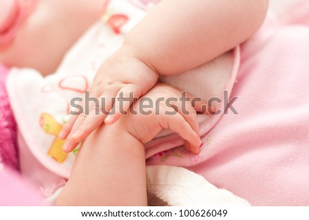 holding hands baby
