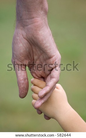 holding hands (dad and child)
