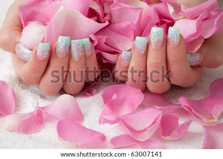 Pink Rose Petals. Holding pink rose petals.