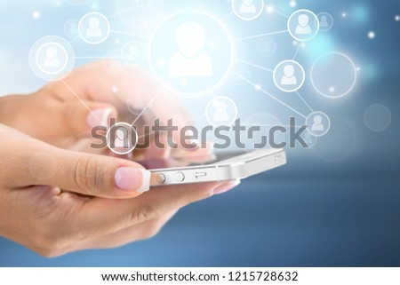 Holding Touchscreen Device #1215728632