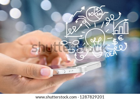 Holding Touchscreen Device #1287829201