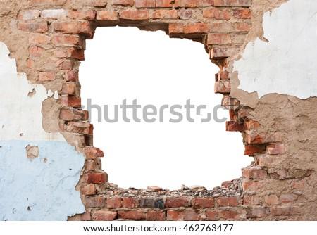 Hole brick wall Stock photo ©