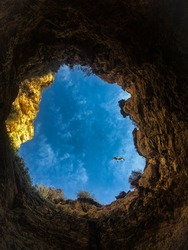 Hole in a rock in Portugal