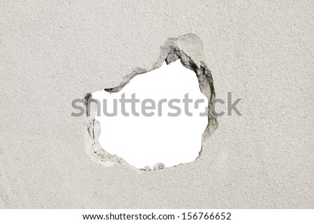 hole in the concrete, the conceptual background Stock photo ©