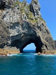 Hole in the rock Paihia, bay of islands, Newzealand