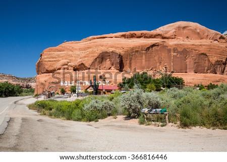 Hole N The Rock near Moab, Utah Foto stock ©