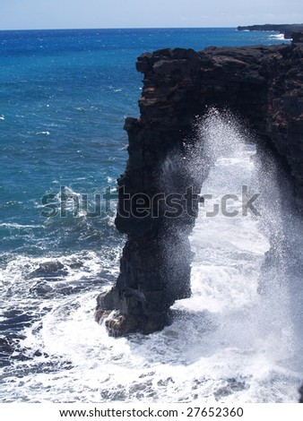 Holei Sea Arch at Bigisland,Hawaii