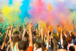 Holi festival of color