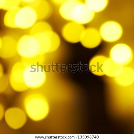 Holiday abstract red and yellow lights can be used for background