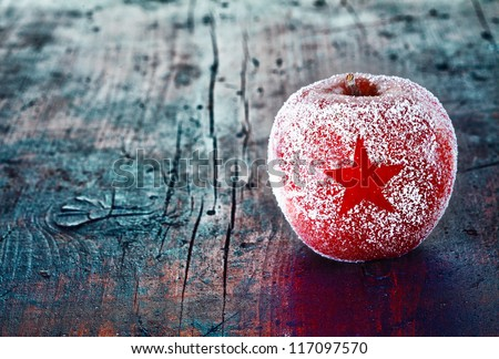 Holiday Apple with Frosted Star
