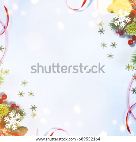 Holiday background, greeting card for Christmas and New Year #689552164