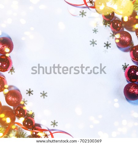 Holiday background, greeting card for Christmas and New Year #702100369