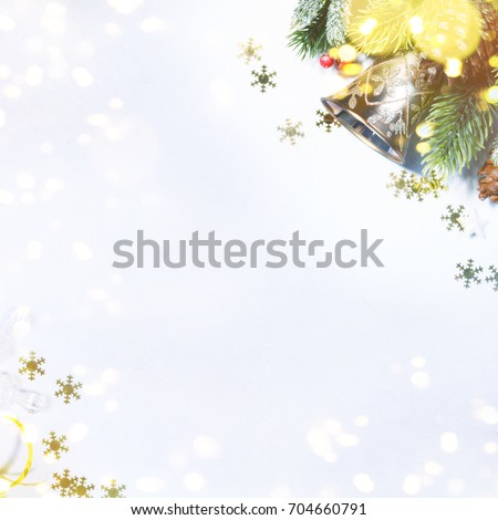 Holiday background, greeting card for Christmas and New Year #704660791