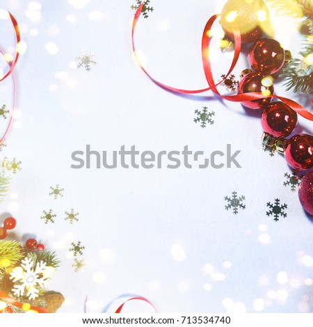 Holiday background, greeting card for Christmas and New Year #713534740