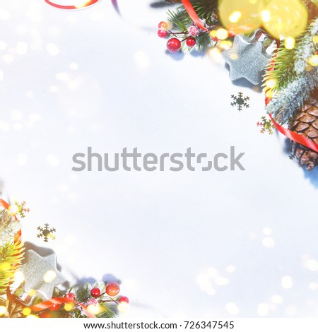 Holiday background, greeting card for Christmas and New Year #726347545