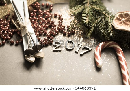 Holiday background/toned photo #544068391