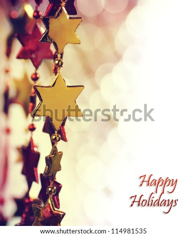 Holiday background with copy space