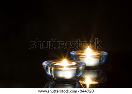 holiday candles - stock photo