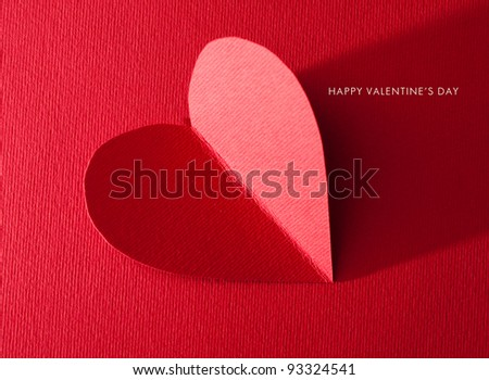 Holiday Card. Heart for Valentines day.  Look through my portfolio to find more images of the same series