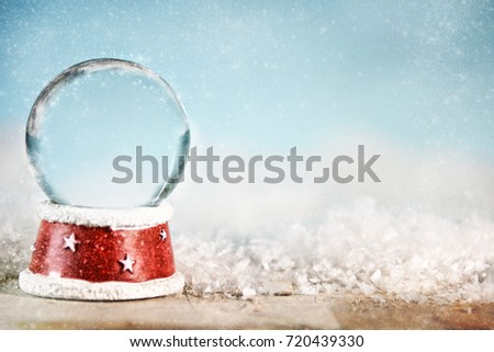 Holiday Christmas background with snowball