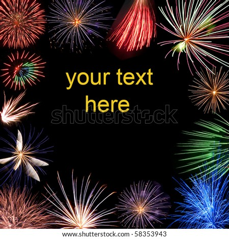 holiday fireworks with free text space