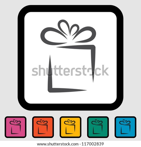 Holiday Gift Box Icon. Vector version also available in my portfolio.