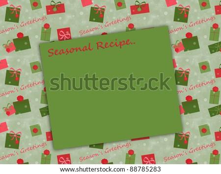 Holiday Gifts - Text - Seasonal Recipe