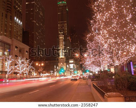 Holiday Lights on Michigan Avenue, Chicago