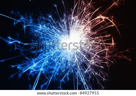 Holiday multicolored sparkler