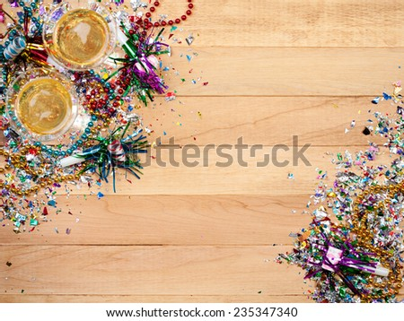 Holiday: New Year\'s Eve Party Background With Champagne