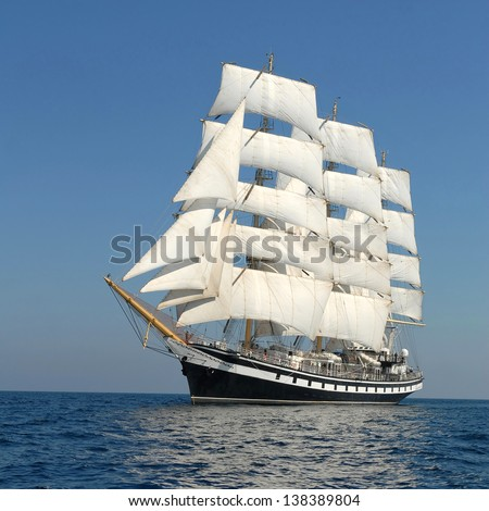 holiday on a sailing ship #138389804