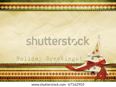 Holiday's greeting card - stock photo