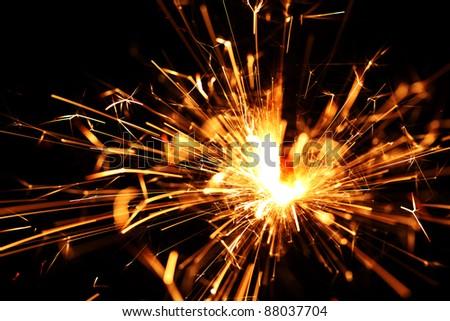 holiday sparkler macro close up