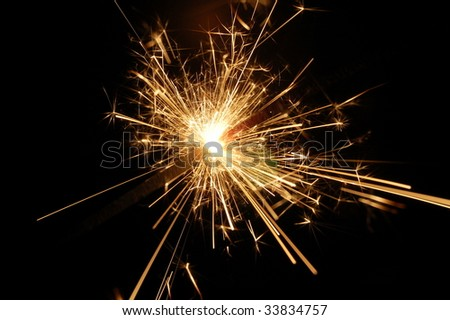 holiday sparkler with copyspace on xmas or new year