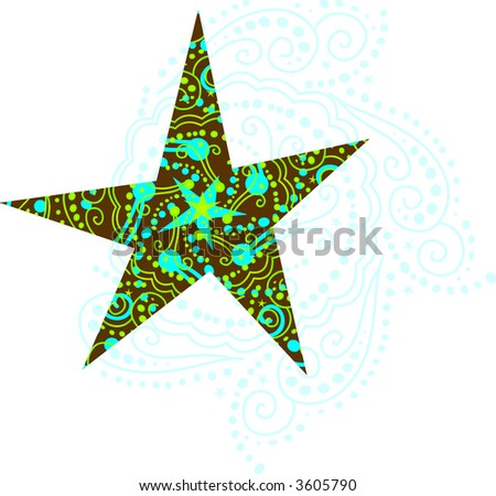 Holiday Star in Blue And Turquoise