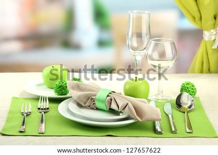 holiday table setting at restaurant